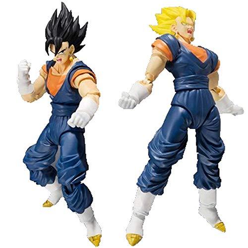 Qdegui Basis Figur Aktionsspielzeug 16 cm PVC La Statue Super Saiyan Figure d'action Dragon Ball Z (UNE Statue Deux têtes). (Ball Dragon Dekorationen Z-party)