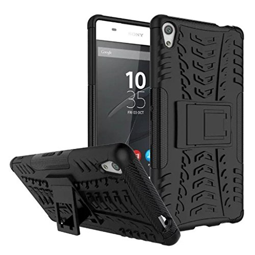 S Softline Rugged Shockproof Tough Hybrid Armour Dual Layer Back Cover for Sony Xperia XA1 Ultra