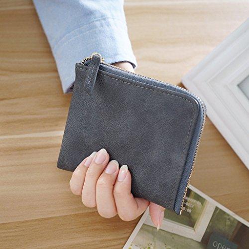 Borsa della moneta di Miss Bao Qian breve paragrafo studenti Zipper Mini borsa del portafoglio Portafoglio ( colore : Beige ) Gray