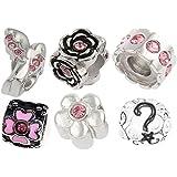 TimeLine Treasures acero inoxidable pulsera cuentas para Pandora acero rosa 2