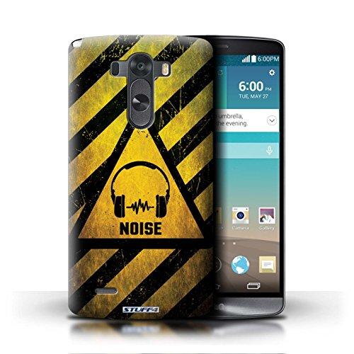 Kobalt® Imprimé Etui / Coque pour LG G3/D850/D855 / Décès/Faucheuse conception / Série Signes de Danger Bruit/Musique