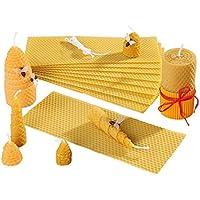Bienenwachs-Kerzen Bastelset selber machen 100% reines Bienen-Wachs 15 Platten 10 x 25 cm