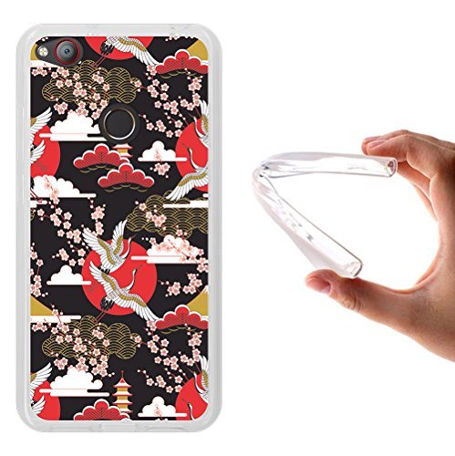 WoowCase ZTE Nubia Z11 Mini Hülle, Handyhülle Silikon für [ ZTE Nubia Z11 Mini ] Japanische Kunst Traditionelle Ornament Handytasche Handy Cover Case Schutzhülle Flexible TPU - Transparent