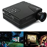 Pithadai H80 Mini LCD Multimedia LED Projector Home Theater Cinema with AV/VGA/TV/USB HDMI