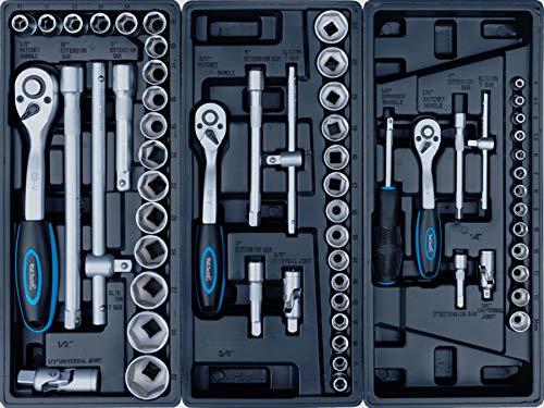 XXL Edition | Werkzeugwagen - Werkstattwagen - 6 Schubladen gefüllt mit Werkzeug | Bit Sets, Ratschen, Nüsse und vieles mehr... - 6