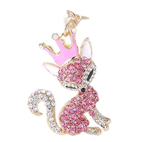 chlüsselanhänger Multifunktion Netter Fuchs Anhänger Diamant Schlüsselbund Handtaschen Anhänger Fuchs mit einem Diamantring (Niedliche Schwester Kostüme)