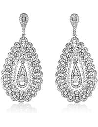 shazé Silver Brass Jazzy Leaves Earrings for Women
