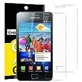 NEW'C Verre Trempé pour Samsung Galaxy S2 (i9100),[Pack de 2] Film Protection écran - Anti Rayures - sans Bulles d'air -Ultra Résistant (0,33mm HD Ultra Transparent) Dureté 9H Glass