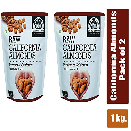 WONDERLAND FOODS (DEVICE) California Almonds 1 Kg , Pack of 2