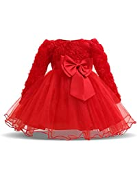 34512a480 NNJXD Girl Sleeveless Lace 3D Flower Tutu Holiday Princess Dresses …