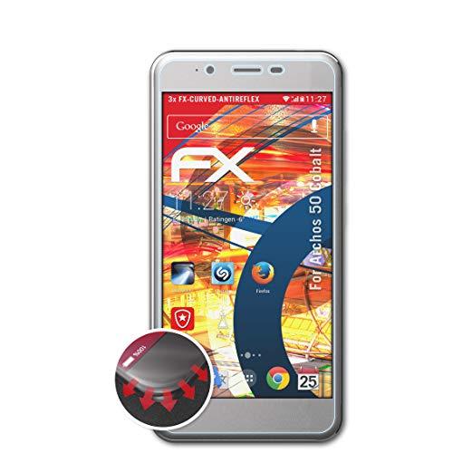 atFolix Schutzfolie passend für Archos 50 Cobalt Folie, entspiegelnde und Flexible FX Displayschutzfolie (3X)