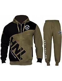 Star Trendz Mens Tracksuit Joggers Sweatshirt Hoddie Zip Up Top Jog Pants  Cuffed Trouser Bottoms Sports… d5933516701ab