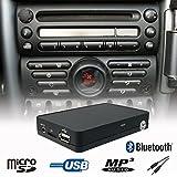Manos libres Bluetooth A2DP USB SD AUX Adaptador de interfaz de cambiador de CD para coche Mini Cooper R50R52R53Boost Radio