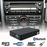 Vivavoce Bluetooth A2DP, USB, SD, AUX, CD, kit adattatore per auto Mini Cooper R50, R52, R53, Radio Boost