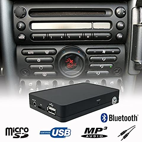 mains libres Bluetooth A2DP USB SD AUX CD Changer adaptateur interface kit voiture Mini Cooper R50 R52 R53 Boost radio