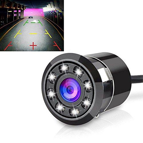Paracity Voiture Caméra de recul 170 degrés Caméra de recul étanche Caméra de recul avec 8 LED HD CCD Vision nocturne pour voiture camion van Camper