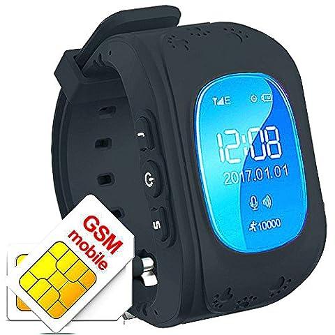 Kinder Armband Uhr Smartwatch GPS Tracker Verlorene Finder Kinder gps Kind Locator Niedrigere Strahlung Echtzeit Standortverfolgung Kinder Smart Uhr Q50 (Gps Tracker Für Kinder)