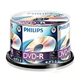 Philips DVD-R Rohlinge (4.7 GB Data/120 Minuten Video, 16x High Speed Aufnahme, 50er Spindel)