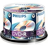 Philips DM 4 S 6 B 50 °F/00 DVD-R 4.7GB Data/120 Min Video, 16X High-Speed Recording – 50 Spindle