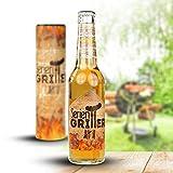 MonsterZeug Bierflasche Seriengriller, Bier für dich 0,33 l in Geschenkverpackung, Bierbox Männer, Bier Witzig, Bier Geschenk, Bierfans, Pils, Biertrinker, Grillfans