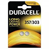 Duracell 357/303 Silver Oxide Coin Cell battery (Pack of 2)