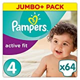Pampers Active Fit, Größe 4, 8-16kg, Windeln, 64 Stück
