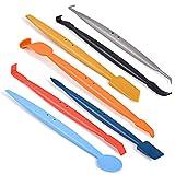 Winjun 7 in 1 Magnet Micro Rakel Set Unterschiedliche Folienrakel zum Folie Kante Verschluss Steck für Autofolie Tönungsfolie Fensterfolie Werkzeug