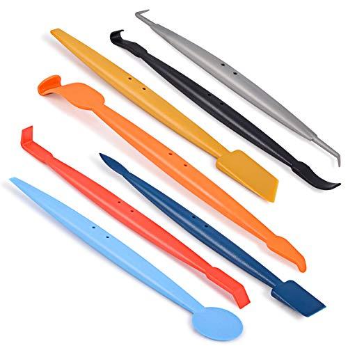 Winjun 7 in 1 Magnet Micro Rakel Set Unterschiedliche Folienrakel zum Folie Kante Verschluss Steck für Autofolie Tönungsfolie Fensterfolie Werkzeug -