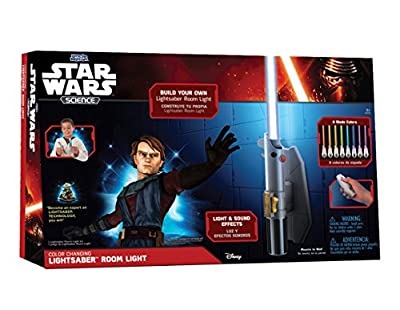 Star Wars Science Deluxe 8 Colour Lightsaber Room Light - low-cost UK light store.