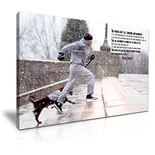 bild, Motiv: Rocky Balboa & Dog, Sylvester Stallone, 76 x 50 cm ()