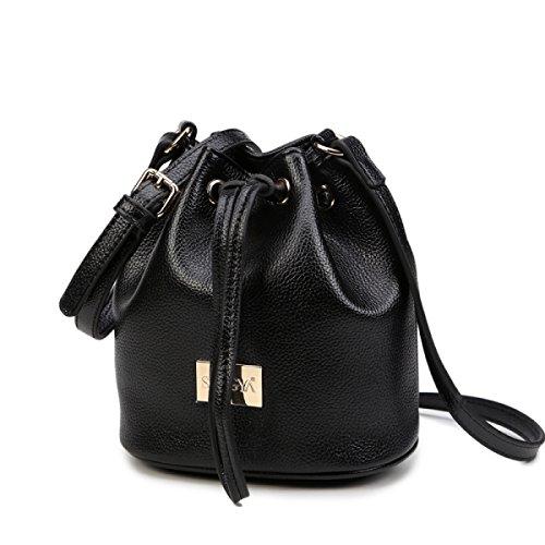 Borsa Da Donna Elegante Borsa A Tracolla Moda Borsa A Tracolla Messenger Bag Ladies Mini Secchiello Borsa Piccola Black
