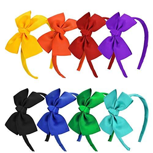 Vamotto 8 piezas diadema lazo cinta grogrén cinta