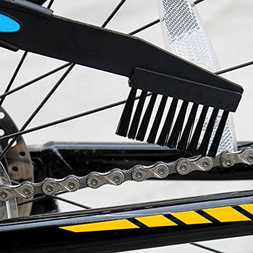 Tesan Fahrrad Kettenreinigungsgerät Cycling Bike Bicycle Chain Cleaner,Bike Chain Cleaner Set Ritzelbürste Zahnkranzkratzer, Blau - 5