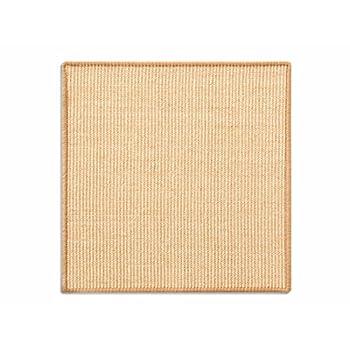 casa pura Tapis griffoir Jaune Clair pour Chats | en sisal résistant | 3 Tailles au Choix | Produit Naturel - sans substances Chimiques | 60x80cm
