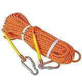 LUOOV 10M (32ft) 20M (64ft) 30M (98ft) 50M (160ft) Sicheres Seil, Felsenseil, Statisches Seil, Durchmesser Seil