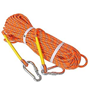 LUOOV 10M(32ft) 20M(64ft) 30M (98ft) 50M (160ft) Climbing Rope,Rock Climbing Rope,Static Rope,Diameter Climbing Rope (Yellow, 10m-32ft)