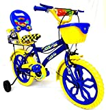#9: Loop Bikes 16 Inches City 16 Blue Yellow Bike For 6 to 9 Years Unisex With Side Wheels
