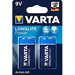 Pile 9 V Varta Longlife Power 6LR61 4922121412 alcaline(s) 580 mAh 9 V 2 pc(s)