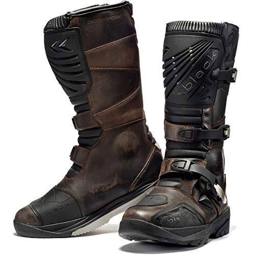 Black Rebel Adventure WP - Stivali da moto, misura 44, colore: Marro