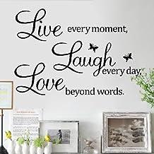 """Zooarts extraíble de """"Live Love Laugh pared adhesivo"""