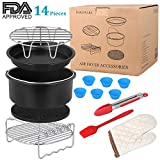 'Air Fryer Accessories Compatible With Aobosi, Power Air Fryer, Tower And More Brand, 7inch Air Fryer Accessory Kit Set Of 14 Pieces Fit All 3.7qt- 5.3qt-5.8qt / 3.2l- 3.5l- 4l -5l Air Fryer