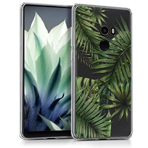 kwmobile Xiaomi Mi Mix 2 Hülle - Handyhülle für Xiaomi Mi Mix 2 - Handy Case in Grün Transparent