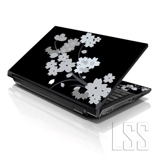 LSS 15 39,62 cm Vinyl Sticker Skin Notebook 33,78 cm 35,56 cm 39,62 cm 40,64 cm HP Art für Dell Lenovo Apple ASUS Acer (2 Wrist Pad Inklusive gratis) Compaq Blumen Blanko