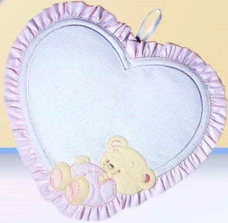 Coccarda nascita cuore 25x27 cm (rosa)