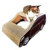 OLJF Cat gratter poteaux SUV Voiture en Forme de Papier ondulé Cat Scratch Board est adapté pour Chat Griffe Jouet ci-Dessous 10kg Pet Nest