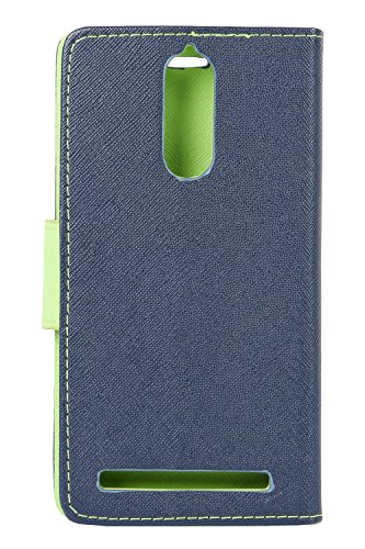 NORBY Original Premium Quality Luxury Diary Wallet Style Flip Flap Cover Case for Lenovo K5 Note-Blue green