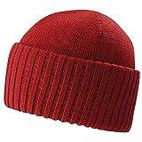 Stetson Northport Merinomütze Umschlagmütze Wollmütze (One Size - rot)