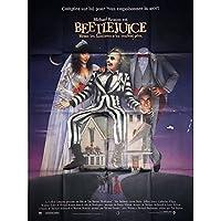 Mauvais Genres BEETLEJUICE French Movie Poster 47x63-1988 - Tim Burton, Michael Keaton