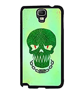 Fuson Premium 2D Back Case Cover Skull With Blue Background Degined For Samsung Galaxy Note 3 Neo N7505