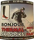 4 Pairs of Mens High Performance Thermal Ski Socks Multi 6-11